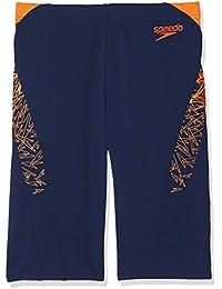f03742b13c Speedo Men's Boom Splice Aqua Shorts - Navy/Pure Orange