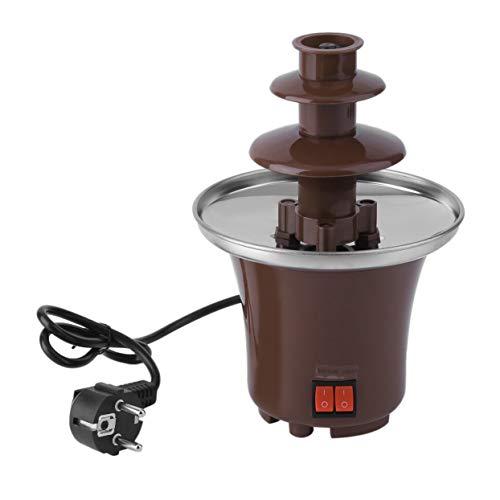 Tree-on-Life Haushalts-Minischokoladen-Brunnen-Fondue-selbst gemachte elektrische Schokoladen-schmelzende Turm-DREI-Schicht-Wasserfall-Maschine -