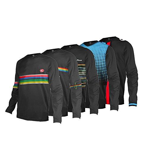 Uglyfrog 2019 Jersey Motocross Jersey Enduro MX Cross Trikot Mountain Bike Downhill Shirt Herren Radtrikot Fahrradtrikot Radshirt Long Sleeve Spring Style -