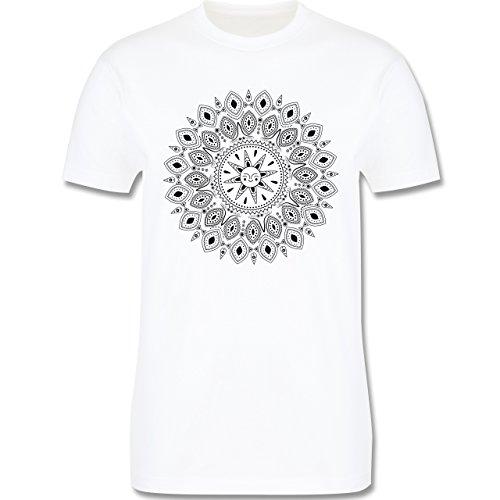 Wellness, Yoga & Co. - Boho Mandala Yoga Sketch - Herren Premium T-Shirt Weiß