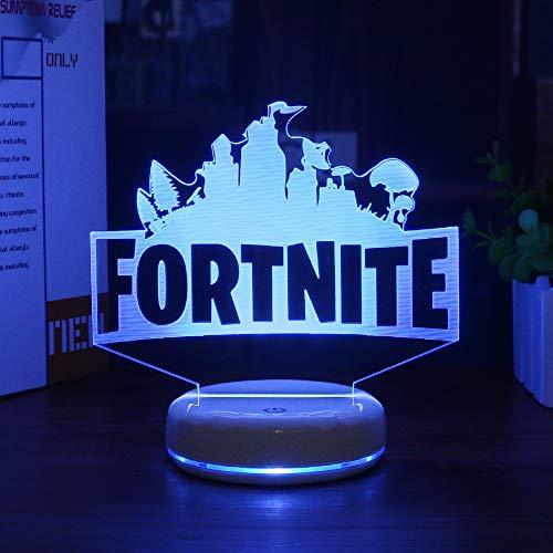 Base Porzellan Lampe (Porzellan White Base 3d-lampe Led Acryl Vision Stereo Mit Fernbedienung Farbenfroher Touch (USB-Netzteil))