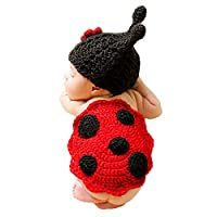 Adorel Newborn Baby Photo Photography Props Costumes Outfits Red Ladybird