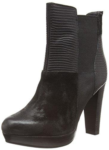 SPM Leona Ankle Boot, Stivali classici imbottiti a gamba corta donna, Nero (Schwarz (Black/Black/Black)), 42
