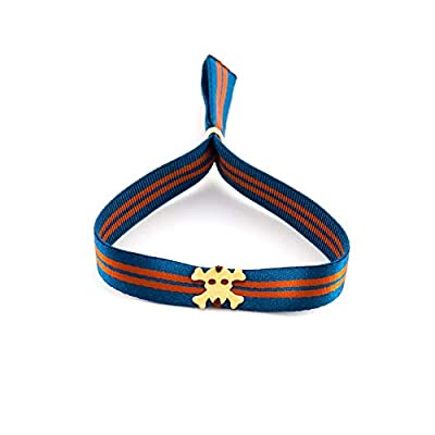 Bracelet unisexe réglable avec bande élastique et crâne. Bracelet homme surf Bracelet femme yoga.Retrostyle.Idée Cadeau Papa - Fête des pères