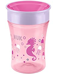 NUK Magic Cup neuartiger Trinkrand, abdichtende Silikonscheibe, rosa, 230 ml