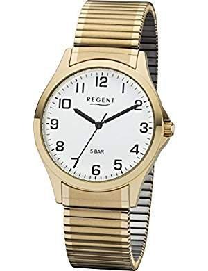 Regent 11300028 Reloj para hombre, cordón, oro