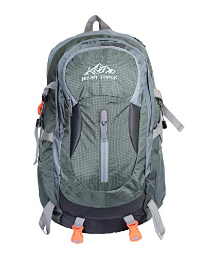 Mount Track R01 Gear Up Rucksack, Hiking & Trekking Backpack 30 Ltrs with Rain Cover and Laptop Compartment (Green)