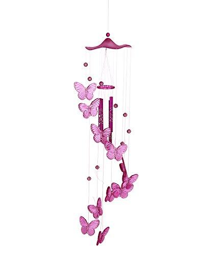 niceEshop(TM) Carillons à Vent en Forme de Papillons pour la Décoration de Maison, de Couloir et de Jardin (Rouge)
