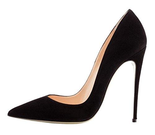 EDEFS Femmes Élégant Talon Haut Escarpins Sexy Bout Pointu Chaussures Soir Fête Chaussures Black