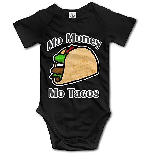 MO Money MO Tacos Newborn Babys Short Sleeve Baby Climbing Clothes Black