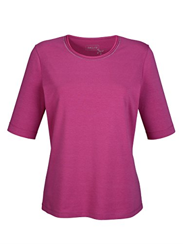 Damen Shirt mit Perlendekoration by Basler Pink