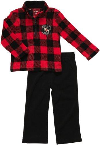 Carter's Outfit 2 teilig Größe 56/62 Langarmshirt + Hose Fleece warm Junge kariert US Size 3 Month Carters Fleece-outfit