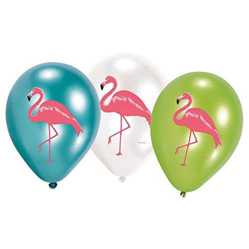 Amscan 9903333 Luftballons Set Flamingo Paradies 6-teilig