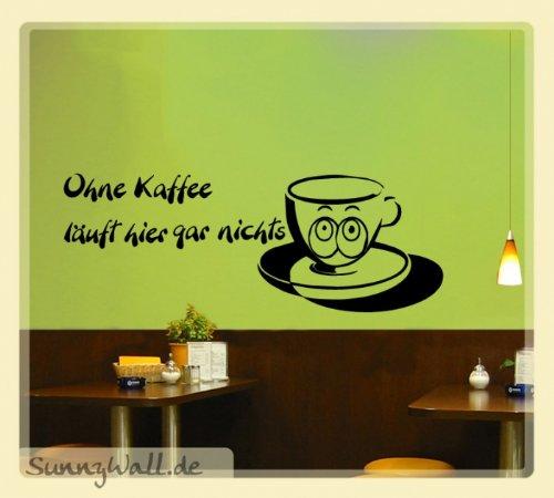 Preisvergleich Produktbild Wandtattoo Kaffee Tasse Ted Glubschi Küche Entzug Größe: Größe 2