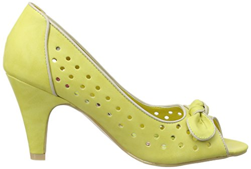 Joe Browns Young At Heart Peep Toes, Escarpins Bout Ouvert Femme Jaune citron