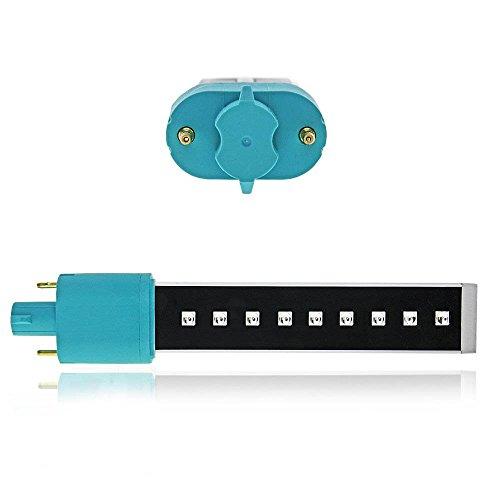 Bulbo LED + UV 365-465 nm attacco UNIVERSALE 9watt per lampada ricostruzione unghie - 41MBHhAyusL