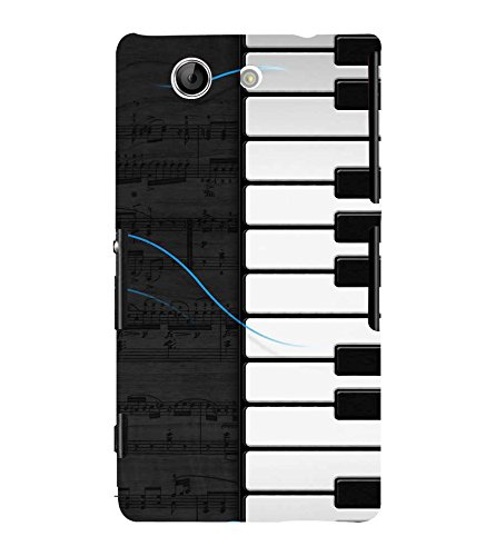Fiobs Designer Back Case Cover for Sony Xperia Z4 Compact :: Sony Xperia Z4 Mini (Piano Keys Keyboard Casio Black White)  available at amazon for Rs.333