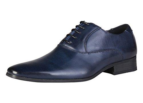 Pierre Cardin Herren M71291 Blau Leder Oxford Schnürhalbschuhe 45