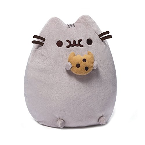 Enesco 4048870 - PELUCHE PUSHEEN CON COOKIE, Multicolore, 0.24 Litri