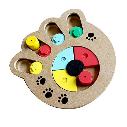 Kreative Machen Zu Kostüm - NaiCasy Haustier-Trainings-Spielzeug einziehbare Hundelernspielzeug Holzspiel Spielzeug Kreative Klaue Printed geformte hölzerne Feeder-Flitter 1pc Feeding