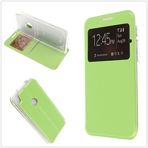 MISEMIYA Schutzhülle Cover für Alcatel Shine Lite - Hüllen + gehärteter Schutz, Cover Sport Magnet Stand,Grün (Und Control Shine Schutz)