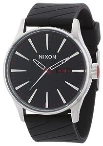 Reloj Nixon A027000-00 de cuarzo para hombre con correa de plástico, color negro de Nixon