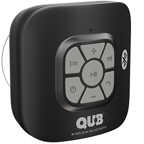 AquaAudio™ Cubo – Portable Waterproof Bluetooth Speaker with Suction Cup for Showers, Car, etc. - Pairs with All Bluetooth Devices + Siri Compatible - 10 hours Playtime/ Built-in Mic (Black)