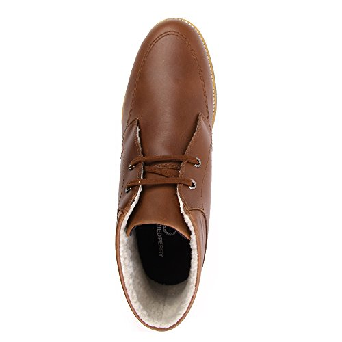 Fred Perry Southall Mid Leather Chestnut Marron