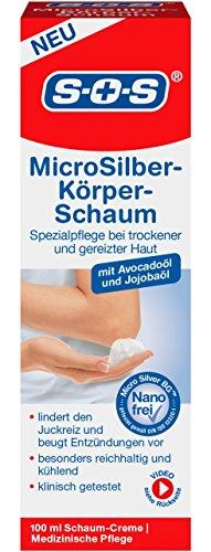 SOS MicroSilber Körper-Schaum - Medizinische Pflege bei trockener Haut und Neurodermitis