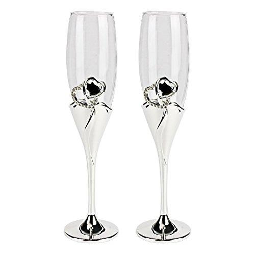 en Champagne Diamante Flöten Gläser 2 Stück ()