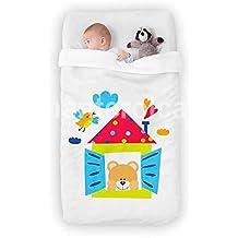 Manterol manta cuna bebé bordada Amanecer 110 x 140 cm en caja decorativa