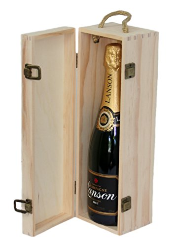 Personalised Engraved Wooden Wine Gift Box Birthday Champagne Prosecco Bottle 21st 30th 40th 50th 60th