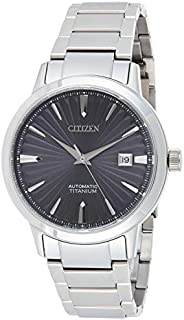 CITIZEN Mens Mechanical Watch, Analog Display and Titanium Strap - NJ2180-89H
