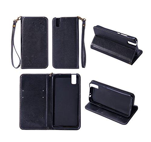Cozy Hut Huawei ShotX/Honor 7i Hülle   Lederhülle   Handyhülle   Schutzhülle   Handytasche   Tasche   Cover   Case Für Huawei ShotX/Honor 7i - schwarz