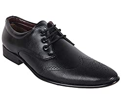 Shoeadda Mens Black Derby Shoes - 10 UK