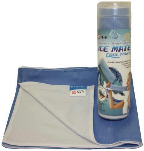 N-Rit Ice Mate Cool Towel Light Blue & White by N-Rit Blue Ice-snap