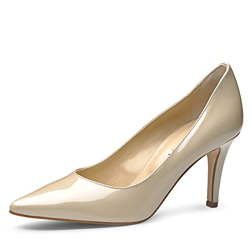 ARIA Damen Pumps Lack Beige