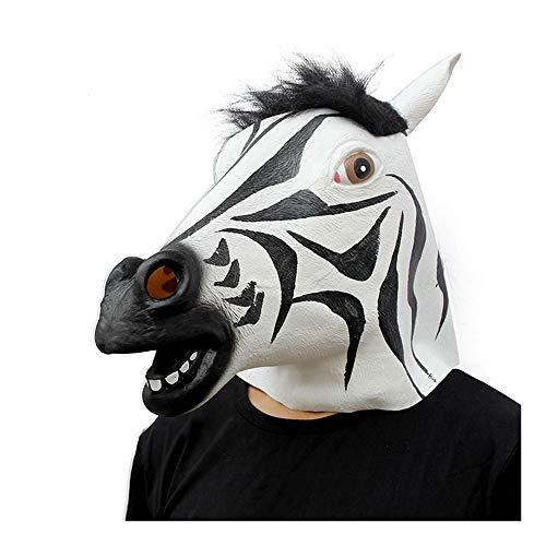 Form-Partei-Maske Halloween Realistische Latex-Pferd-Abendkleid-Partei-Erwachsene Volle Gesichts-Tier-Maske Cosplay Kostüm ()