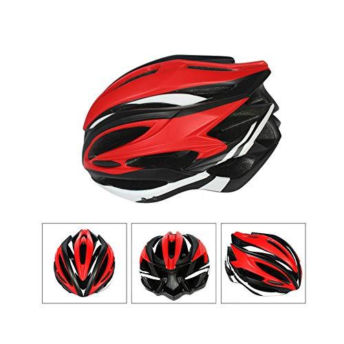 XFKLLL Fahrradfahren, Beleuchteter Helm, Eisschnelllaufhelm, Eislaufhelm, Schutzhelm (Rot)