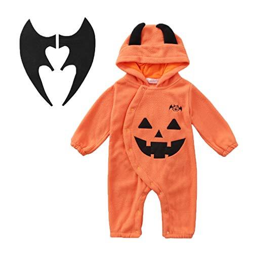 Anan lucky morbido flanella pigiama - tutina - travestimento carnevale - halloween zucca - bambina -bambino neonato - unisex -cosplay(70)