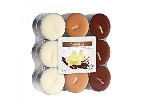 Girm® -hx922318 candele profumate , di paraffina, all'aroma di vaniglia. set 18 pezzi - profumatore per ambiente. candele odorate per la casa . aromaterapia