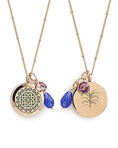 AromaLuxe London 1 Rose Gold Essential Oil Diffuser Necklace - Aromatherapy Jewelry - Hypoallergenic 316L Surgical Grade Stainless Steel, 20.8