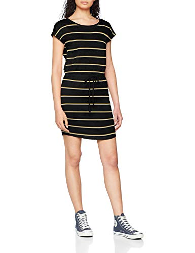 ONLY NOS Damen Onlmay S/S Dress Noos Kleid, Mehrfarbig (Black Stripes: Double Yolk Yellow/Cl. Dancer), 38 (Herstellergröße: M)