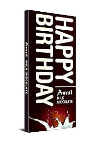 Amul Happy Birthday Milk Chocolate, 150 g, [ Pack of 4 ]
