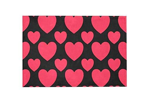 Heart Design Pink Z09 Large Area Rugs,Dirty Children's Carpets for Living Roooms,Bedrooms,Children's Doormats 183x122cm/72x48in