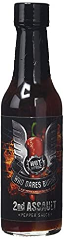 Hot-Headz Who Dares Burns 2nd Assault Mega Hot Chilli Sauce 148 ml