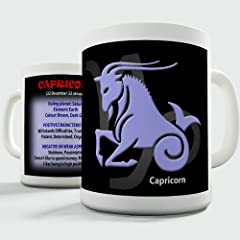 Idea Regalo - Twisted Envy segno zodiacale Capricorno in ceramica tazza di tè