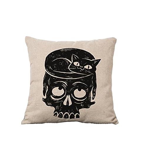 DZW Schädel Kopf Blätter Pik Bettwäsche Sofa Kissen halten Haus Auto Kissen halten , 4, Eine Vielzahl von Stilen