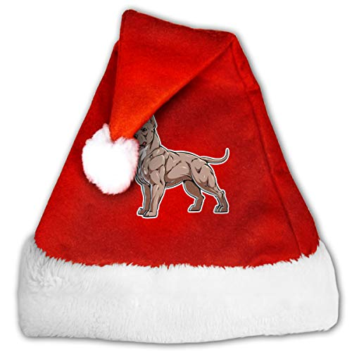 CZLXD American Bully - Gorro de Navidad, poliéster, Rojo, Medium