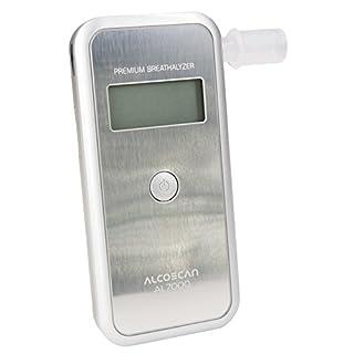 Digitaler Alkoholtester AL-7000 (silber) / Messbereich: 0.00-4.00‰ / Messgenauigkeit: 0,01‰